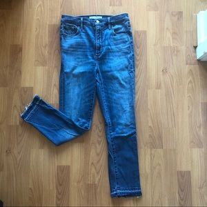 Denim Forum Lola High Rise Skinny Jeans